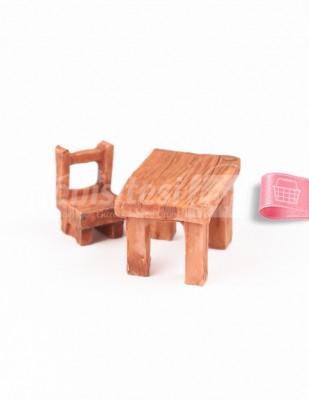 - Teraryum Malzemesi - Masa Sandalye - Kahverengi - 3,5 x 2,5 x 2,5 cm - 612/613