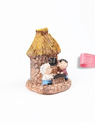 - Teraryum Malzemesi - Masalı Ev - Sarı - 4,5 x 7 cm - 513