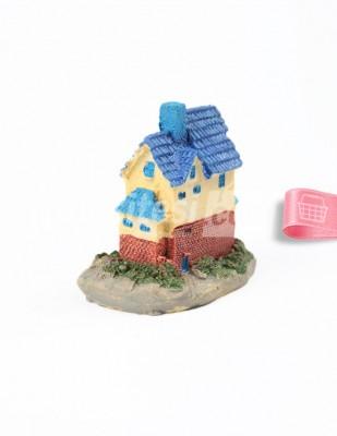 - Teraryum Malzemesi - Mavi Çatılı Ev - 5,5 x 5,5 cm - H109614