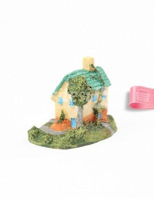 - Teraryum Malzemesi - Yeşil Çatılı Ev - 5,5 x 5,5 cm - H109614 (1)