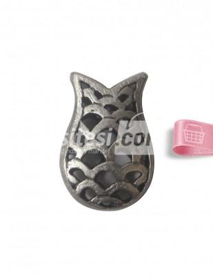 - Tespih İmamesi - Lale - Gümüş - 1,5 x 2 cm