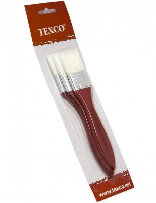 - Texco Zemin Fırça Seti - 3lü Zemin Fırçası - Beyaz