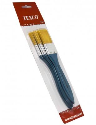 - Texco Zemin Fırça Seti - 3lü Zemin Fırçası - Turuncu