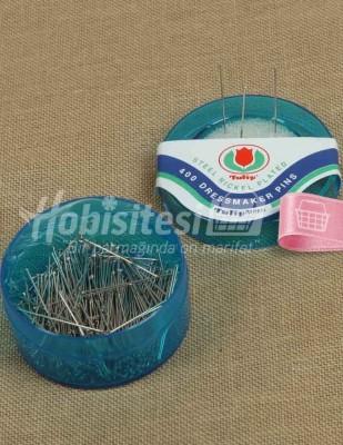 TULIP - Tulip Toplu İğne - 0,50 x 32 mm - Mavi - 400 Adet / Kutu