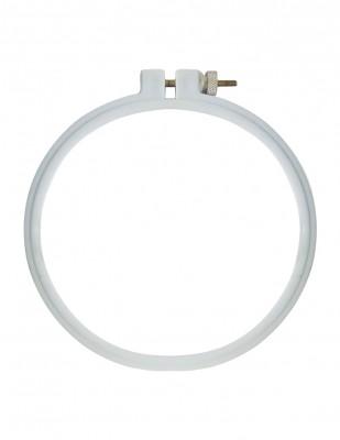 - Vidalı Yuvarlak Nakış Kasnağı, Plastik - 120 mm - 10 mm