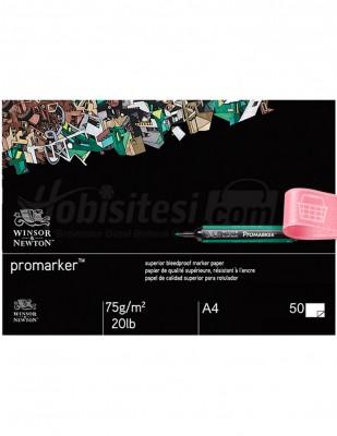WINSOR & NEWTON - Winsor & Newton Promarker Bleedproof Paper Pad A4 - 50 Yaprak - 75 g/m²