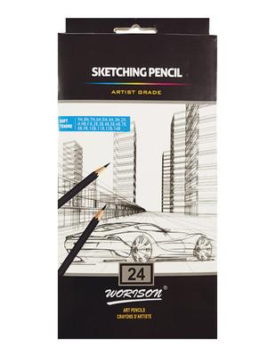- Worison Sketching Pencils, Eskiz Kalem Seti - 24 Adet