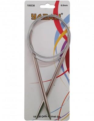 YABALI - Yabalı Çelik Misinalı Şiş - 100 cm - No 6,0