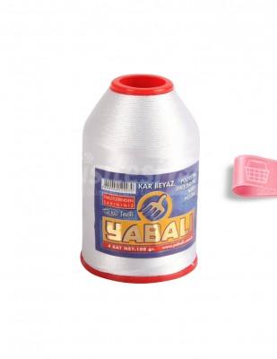 YABALI - Yabalı Dantel İpliği - No:50 - 100 gr - Beyaz