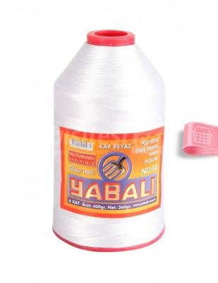 YABALI - Yabalı Dantel İpliği - No:50 - 400 gr - Kar Beyaz