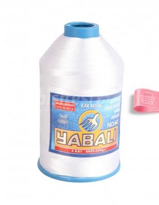 YABALI - Yabalı Dantel İpliği - No:60 - 400 gr - Kar Beyaz