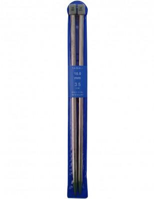 YABALI - Yabalı Örgü Şişi - Titanyum - 35 cm - No 10