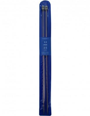 YABALI - Yabalı Örgü Şişi - Titanyum - 35 cm - No 2,5