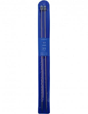 YABALI - Yabalı Örgü Şişi - Titanyum - 35 cm - No 3,0