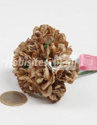 - Yapay Çiçek - Bej - Çap 2,5 cm / Dal ile Uzunluk 10 cm - 12 Dal / Demet