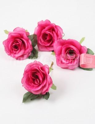 - Yapay Çiçek - Fuşya - 5 cm - 4 Adet / Paket