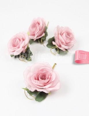 - Yapay Çiçek - Gül Kurusu - 5 cm - 4 Adet / Paket