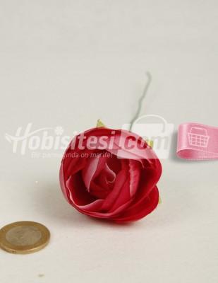 - Yapay Çiçek - Koyu Fusya Ebruli - Çap 5 cm