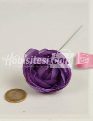 - Yapay Çiçek - Mor - Çap 5 cm