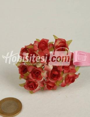 - Yapay Çiçek - Nar Çiçeği - Çap 2 cm - 12 Adet / Demet