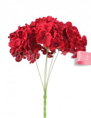 - Yapay Çiçek, Ortanca - 32 cm - Bordo