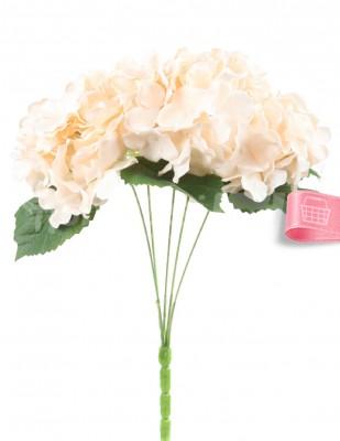 - Yapay Çiçek, Ortanca - 32 cm - Krem