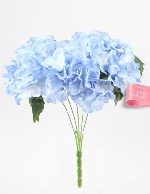 - Yapay Çiçek, Ortanca - 32 cm - Mavi