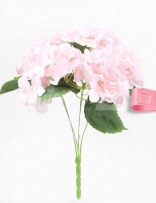 - Yapay Çiçek, Ortanca - 32 cm - Pembe