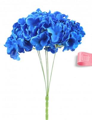 - Yapay Çiçek, Ortanca - 32 cm - Saks Mavi