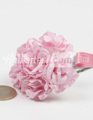- Yapay Çiçek - Pembe - Çap 2,5 cm / Dal ile Uzunluk 10 - 6 Dal / Demet
