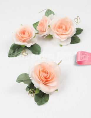 - Yapay Çiçek - Somon - 5 cm - 4 Adet / Paket