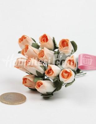 - Yapay Çiçek - Somon - Çap 2 cm / Dal ile Uzunluk 10 - 6 Dal / Demet