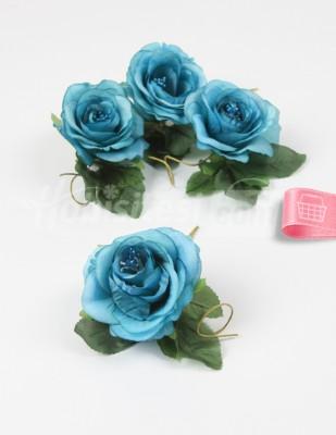 - Yapay Çiçek - Turkuaz - 5 cm - 4 Adet / Paket