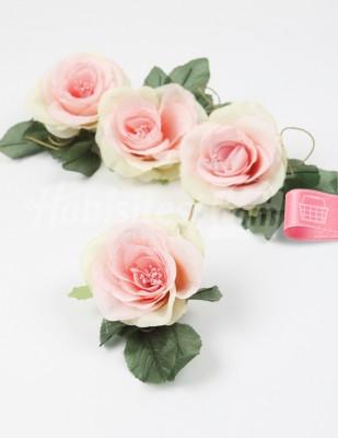 - Yapay Çiçek - Yavruağzı - 5 cm - 4 Adet / Paket