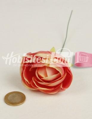 - Yapay Çiçek - Yavru Ağzı Pembe Ebruli - Çap 5 cm