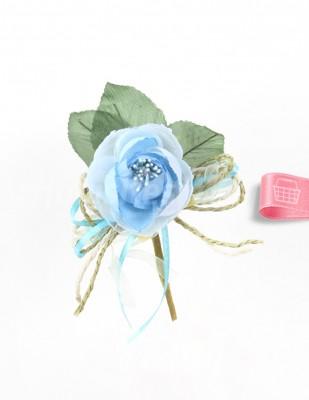 - Yapay Gül - Çap 4 cm - Mavi