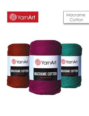 YARNART - Yarnart Macrame Cotton El Örgü İplikleri - 225 m
