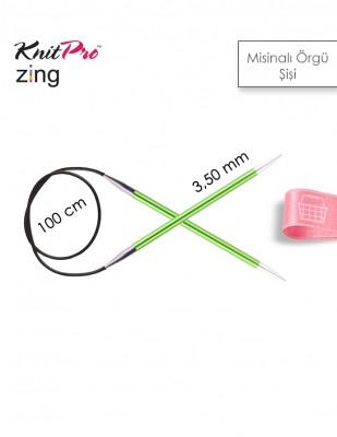 KNITPRO - KnitPro Zing Misinalı Örgü Şişi - 100 cm - 3,5 Numara