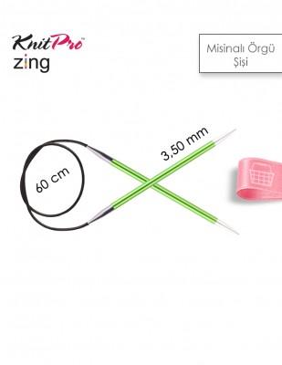 KNITPRO - KnitPro Zing Misinalı Örgü Şişi - 60 cm - 3,5 Numara